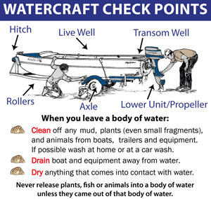 Watercraft instructions for checking for invasive species