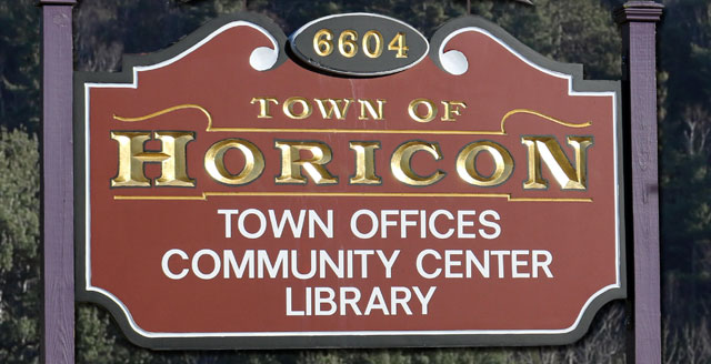 Town of Horicon sign