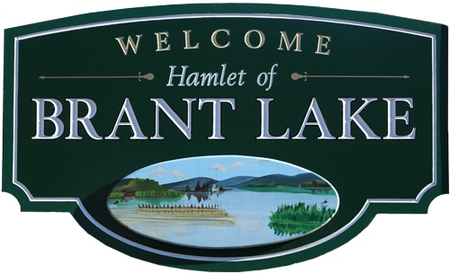 Hamlet of Brant Lake welcome sign