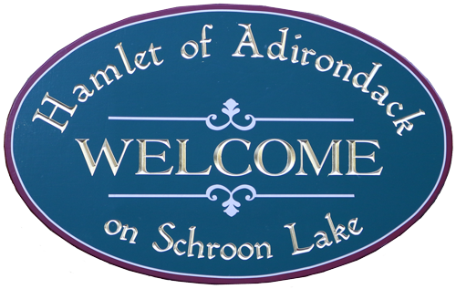 Hamlet of Adirondack welcome sign