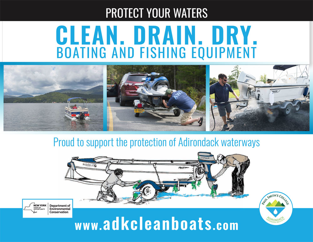 Protect Your Waters. Clean. Drain. Dry. Boating and Fishing Equipment.